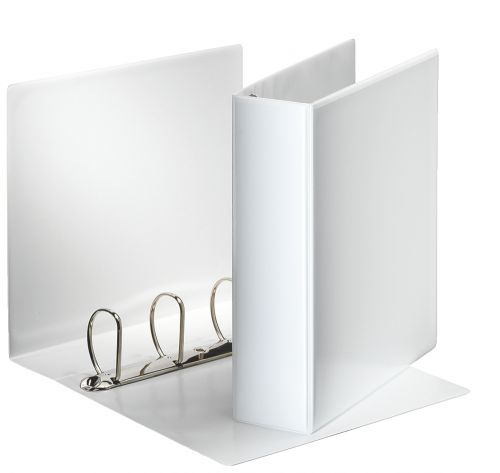 Esselte Presentation Ring Binder 4 Ring A4 60mm White 600555