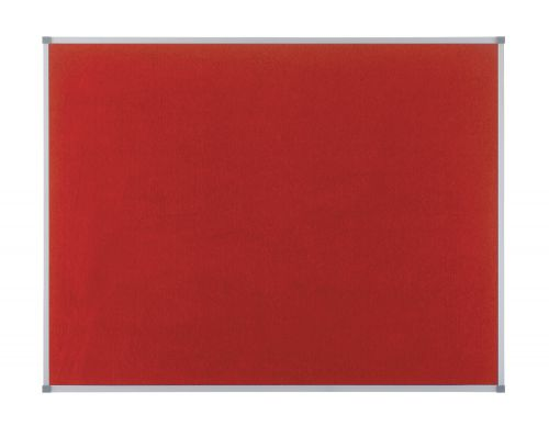 Nobo 1200x900mm Elipse Felt Board with Aluminium Trim Red