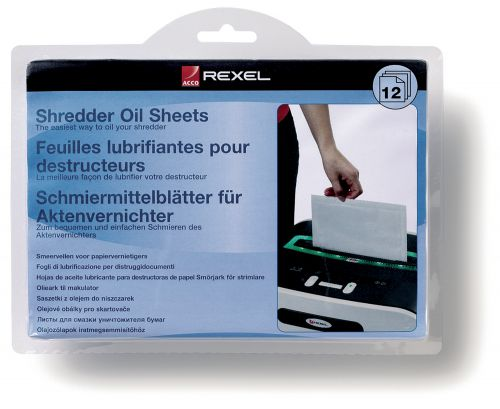 Rexel Shredder Oil Sheets (12) 2101948