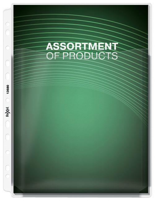 Rexel Nyrex Extra Capacity Pocket with Gusset A4 13680 (PK5)