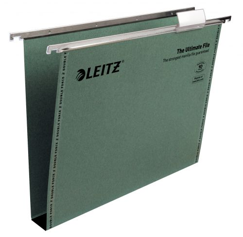 Leitz Ultimate Clenched Bar A4 Suspension File Card 30mm Green (Pack 50) 17430055