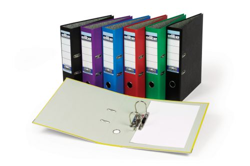 Rexel Elite Lever Arch File A4 Black PK10
