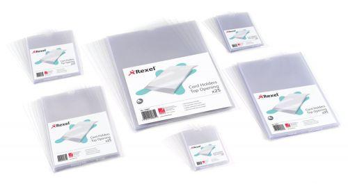 Rexel 95x64mm Open Top Card Holder Pk25