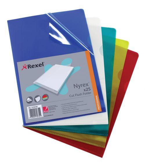 Rexel Nyrex Cut Flush Folder A4 Asd P25