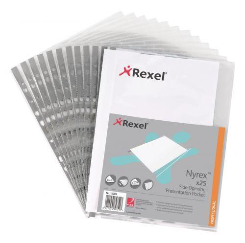 Rexel Nyrex Reinforced Pockets PK25