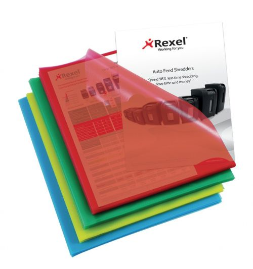 Rexel Cut Flush Folders Polypropylene A4 Assorted(Pack of 100) 12216AS