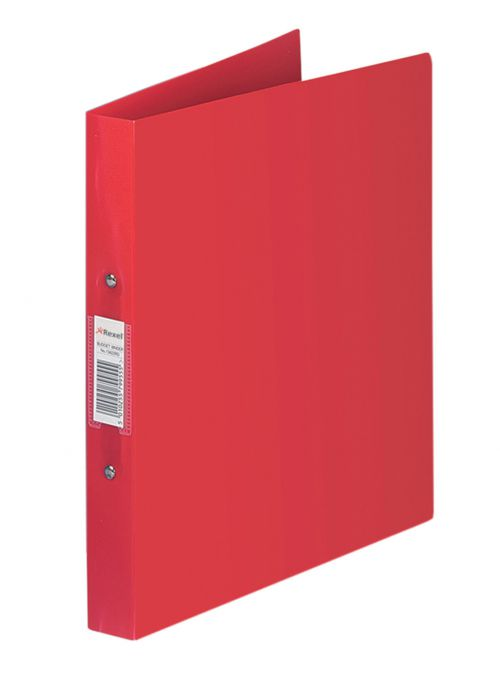 Rexel Budget Ring Binder PP 2-OR 25mm A4 Red PK10