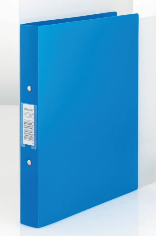 Rexel Budget Ring Binder PP 2-OR 25mm A4 Blue PK10