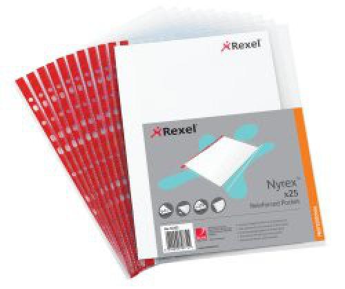 Rexel Nyrex Reinforced Side Opening Pockets PK25