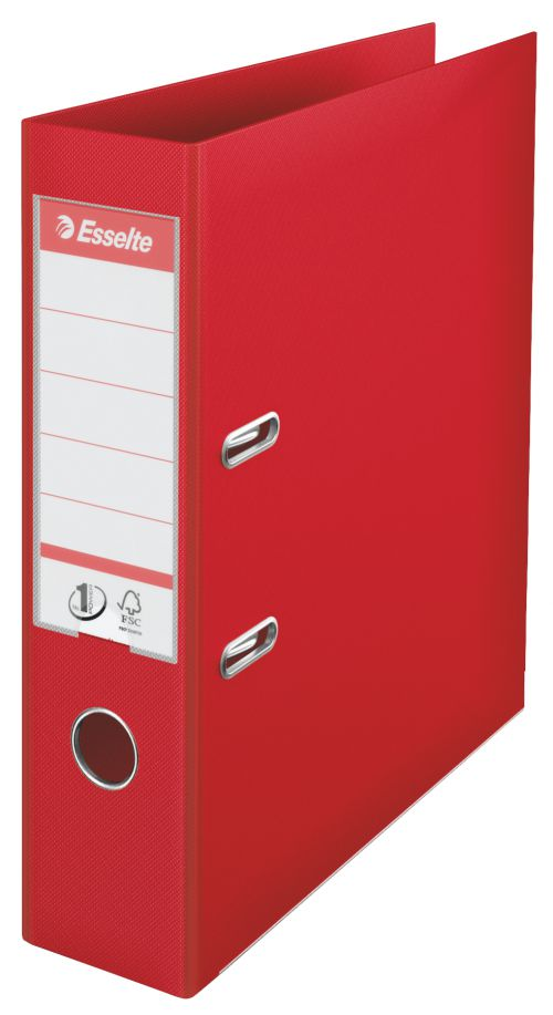 Esselte No.1 Power Polypropylene Lever Arch File A4 75mm Red 811330