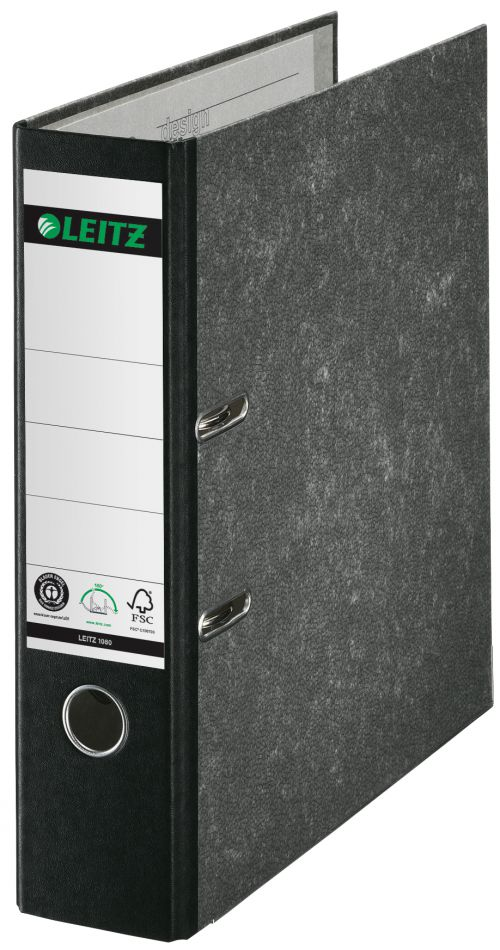 Leitz Board Lever Arch File A4 Portrait Black 10801095