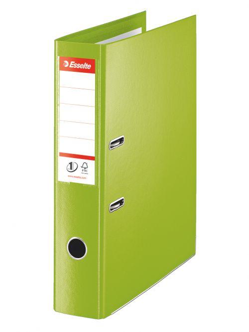 Esselte No.1 VIVIDA LAF 70mm Foolscap Green PK10