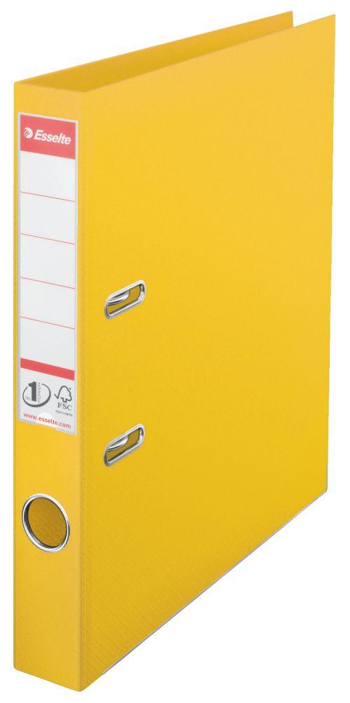 Esselte Mini Lever Arch File 48071 A4 Yellow PK10