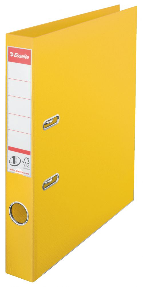 Esselte No.1 Power Polypropylene Mini Arch File A4 50mm Yellow 811410