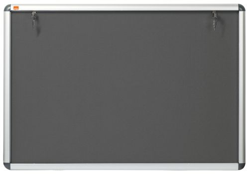 Nobo Internal Display Case A1 Grey Felt 745x1025mm