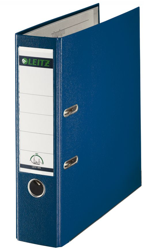 Leitz Plastic 180 Lever Arch File A4 80mm Blue 10100035