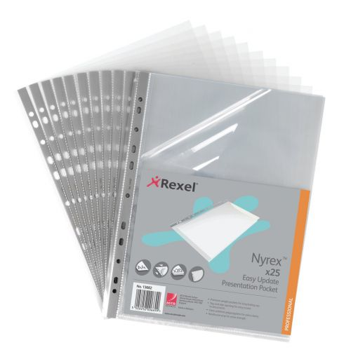 Nyrex Reinforced Pocket Side and Top Open A4 Clear (PK25)