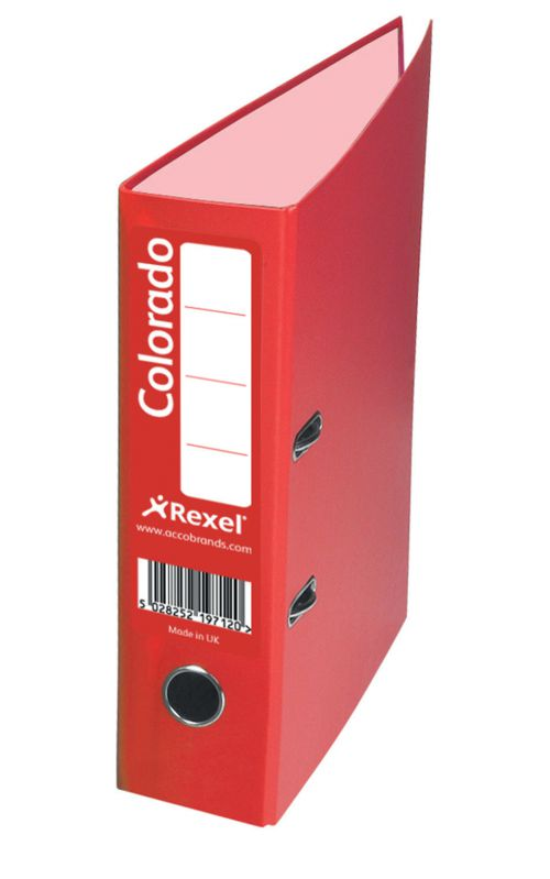 Rexel Colorado Lever Arch File 80mm Spine A4 Red PK10