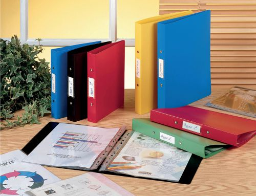 Rexel Budget Ring Binder 2-OR 25mm A4 Assorted 13422AS PK10