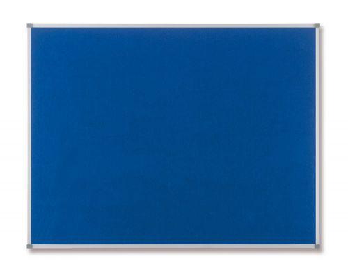 Nobo Classic Noticeboard Felt with Aluminium Frame W1200xH900mm Blue Ref 1900916