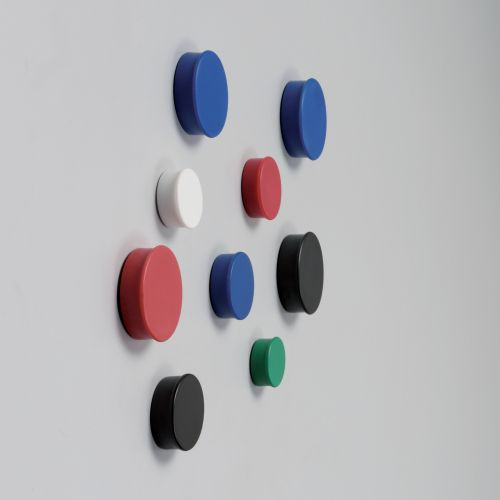 Nobo Magnets 19mm Assorted Pack 10