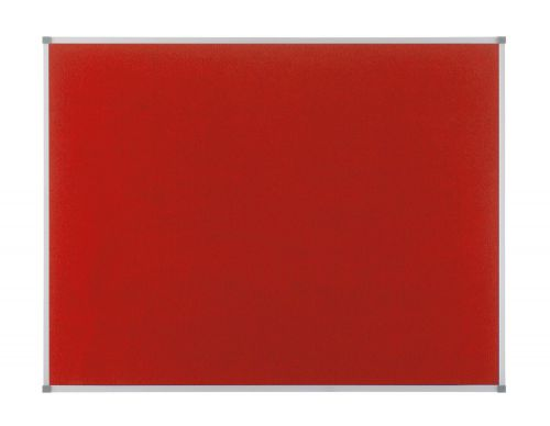 Nobo Classic Noticeboard Felt with Aluminium Frame W900xH600mm Red Ref 1902259