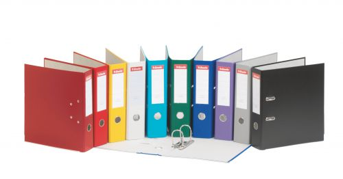 Esselte Lever Arch File A4 PP 75mm Assorted PK20