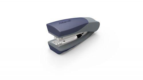 Rexel Centor Half Strip Stapler Vert 60mm Throat 26/6 20 Sheets & 24/6 25 Sheets Slv/Blu Ref 2100596