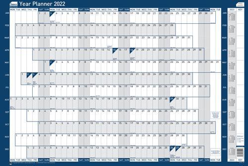 Sasco Year Planner Mounted 2022 2410152