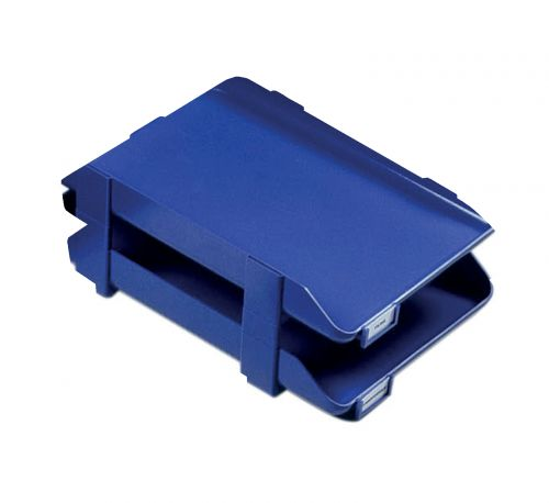 Rexel Agenda Classic 55 Letter Tray Stackable Internal W382xH246x55mm Blue Ref 25207