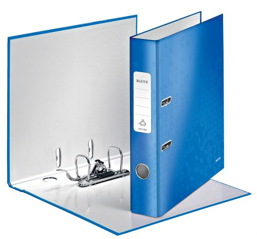 Leitz WOW Lever Arch File A4 50mm Blue Metallic PK10