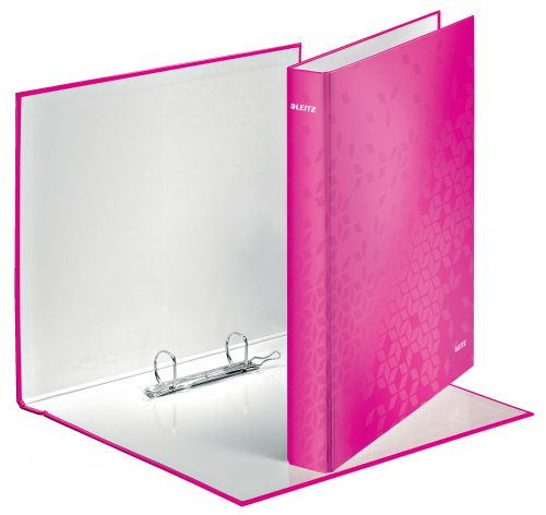 Leitz WOW Ring Binder A4+ 25mm Pink 42410023