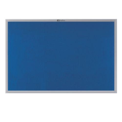 Nobo 600x900mm Euro Plus Noticeboard Felt Alu Frame Blue
