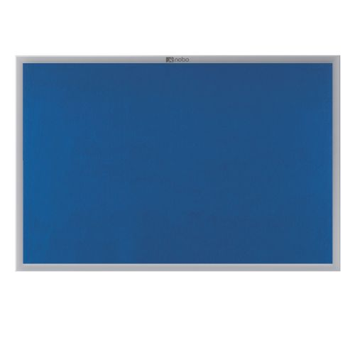 **Nobo EuroPlus Felt Noticeboard with Fixings and Aluminium Frame W1500xH1000mm Blue Ref 30234148