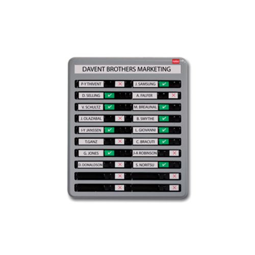 Nobo In/Out Board 10 Names Grey Finish