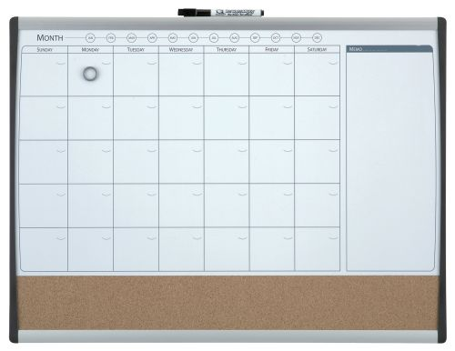 Nobo Quartet Combo Organisation Board Frame 585x430mm