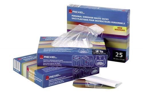 Rexel Wide Entry Shredder Waste Sacks 200 Litres Ref 40014 [Pack 50]