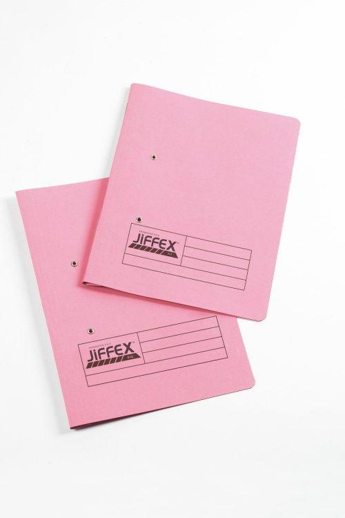 Rexel Jiffex Foolscap Transfer File Pink PK50