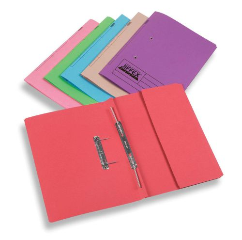 Rexel Jiffex Foolscap Transfer File with Pocket Red PK25