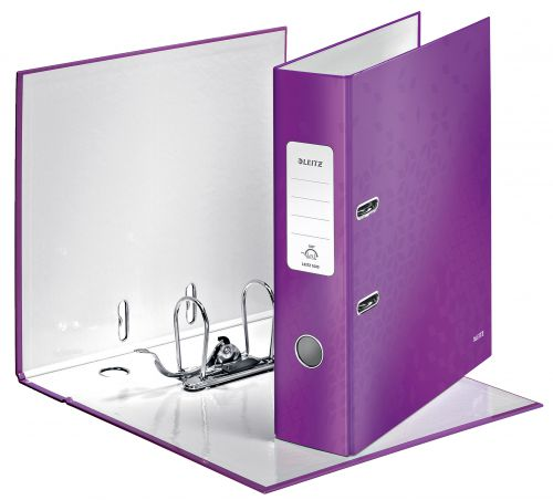 Leitz WOW Lever Arch File A4 80mm Purple 10050062