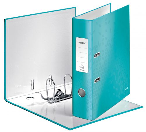Leitz WOW Lever Arch File A4 80mm Ice Blue 10050051