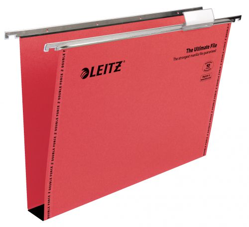 Leitz Ultimate Clenched Bar Susp File Foolscap Red BX50