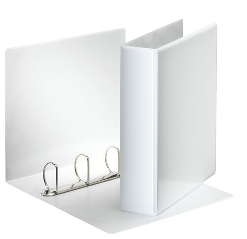 Esselte Essentials Presentation Ring Binder Polypropylene 4 D-Ring A4 50mm Rings White (Pack 10)