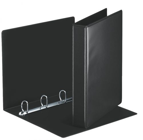 Esselte Essentials Presentation Ring Binder Polypropylene 4 D-Ring A4 30mm Rings Black (Pack 10)