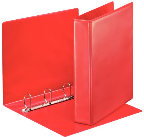 Esselte Essentials Pres Binder A4 40mm 4 D-Ring Red PK10