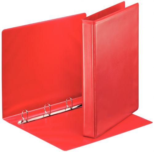 Esselte Essentials Pres Binder A4 25mm 4 O-Ring Red PK10