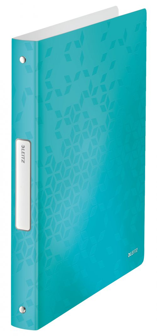 Leitz WOW 4-O Ringbinder A4 PP 25mm Ice Blue PK10
