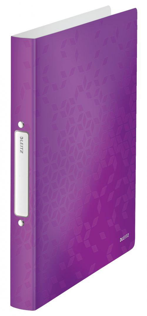 Leitz WOW 2-O Ringbinder A4 PP 25mm Purple PK10