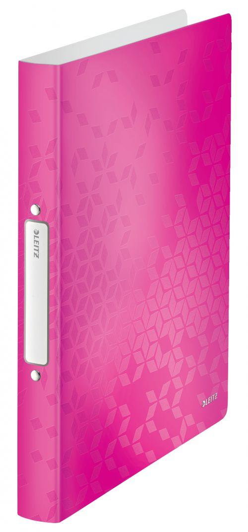 Leitz WOW 2-O Ringbinder A4 PP 25mm Pink Metallic PK10