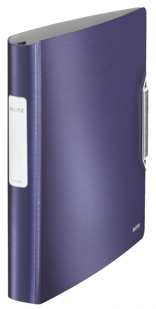 Leitz Active Style SoftClick Ring Binder Polypropylene 4 D-Ring A4 30mm Rings Blue (Pack 5) 42450069